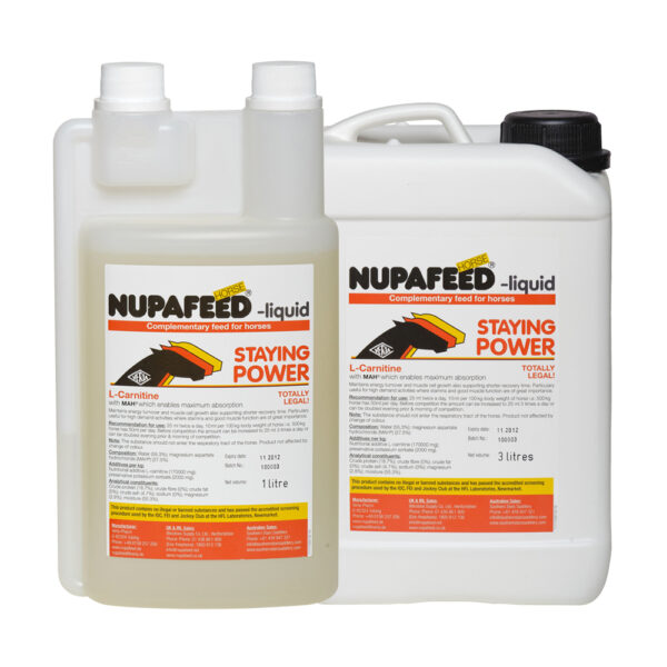 nupafeed staying power liquid energy and muscle supplement for horses