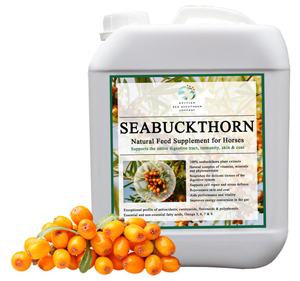 Seabuckthorn skin and coat supplement for horses